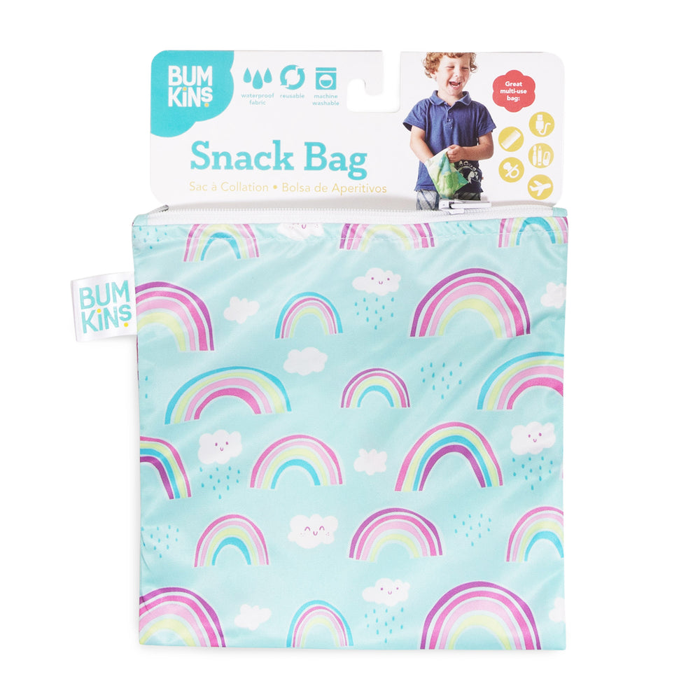 Reusable Snack Bag, Large: Rainbows