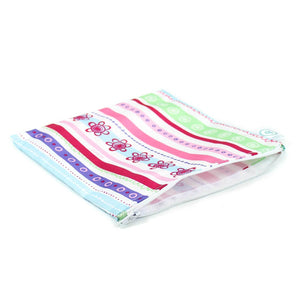 Reusable Snack Bag, Large: Ribbon
