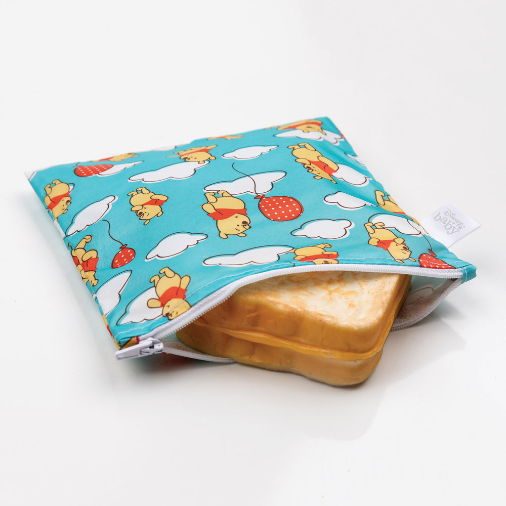Reusable Snack Bag, Large: Winnie the Pooh Balloons