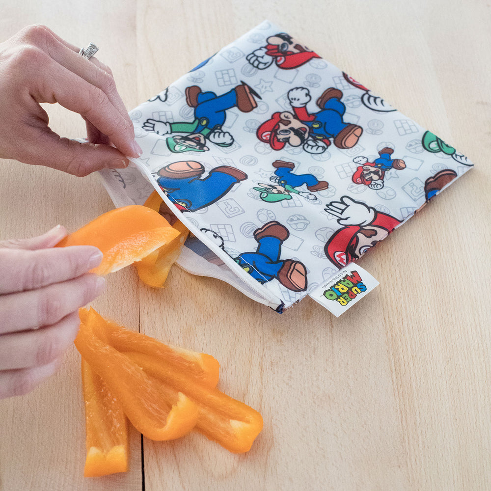 Reusable Snack Bag, Large: Super Mario™ & Luigi