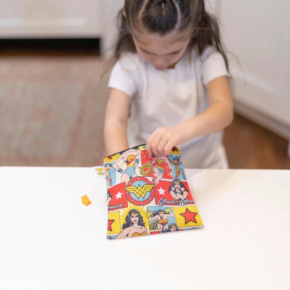 Reusable Snack Bag, Large: Wonder Woman