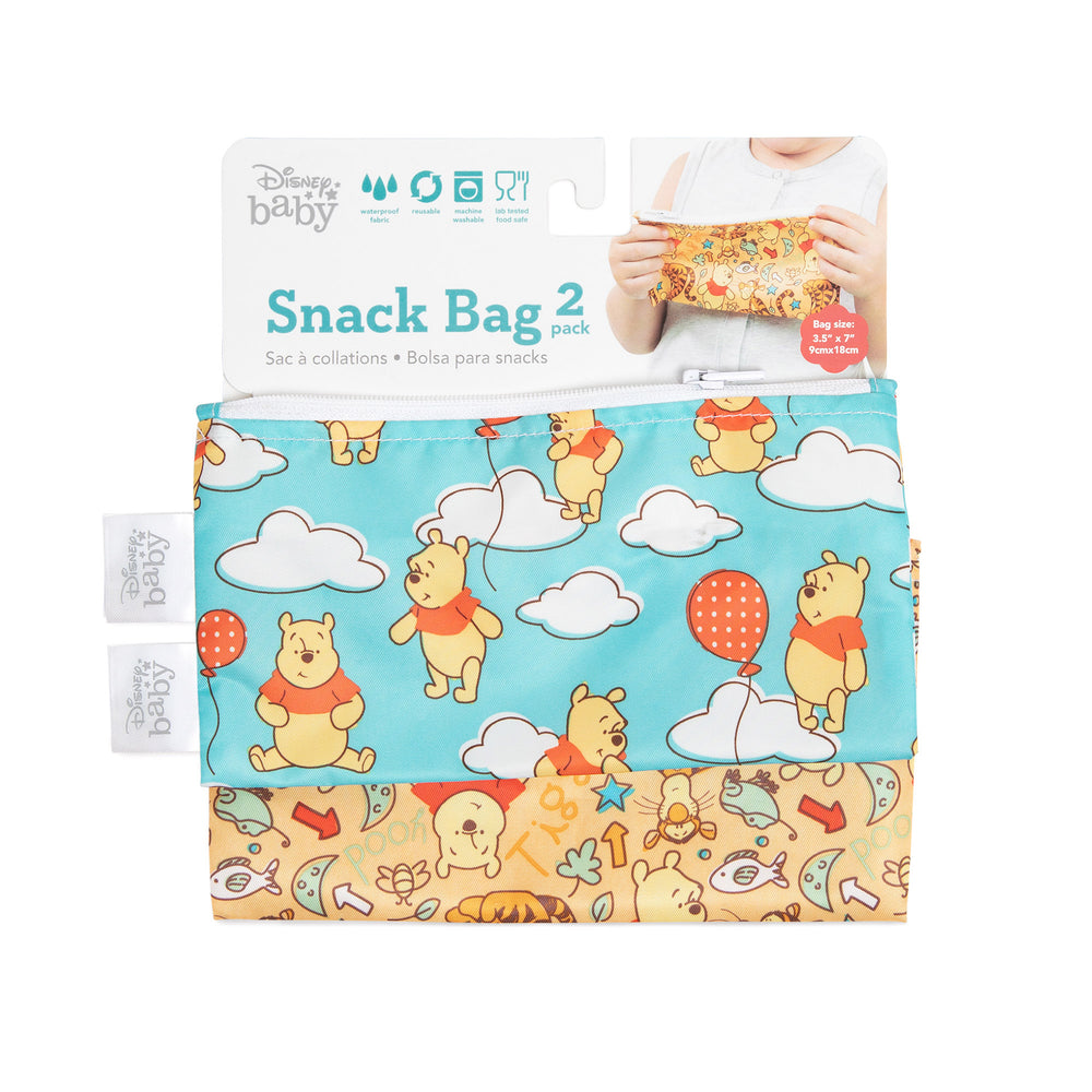 Reusable Snack Bag, Small 2-Pack: Winnie the Pooh