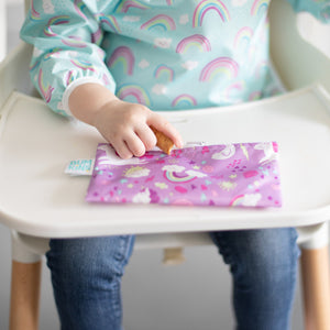 Reusable Snack Bag, Small 2-Pack: Rainbows & Unicorns
