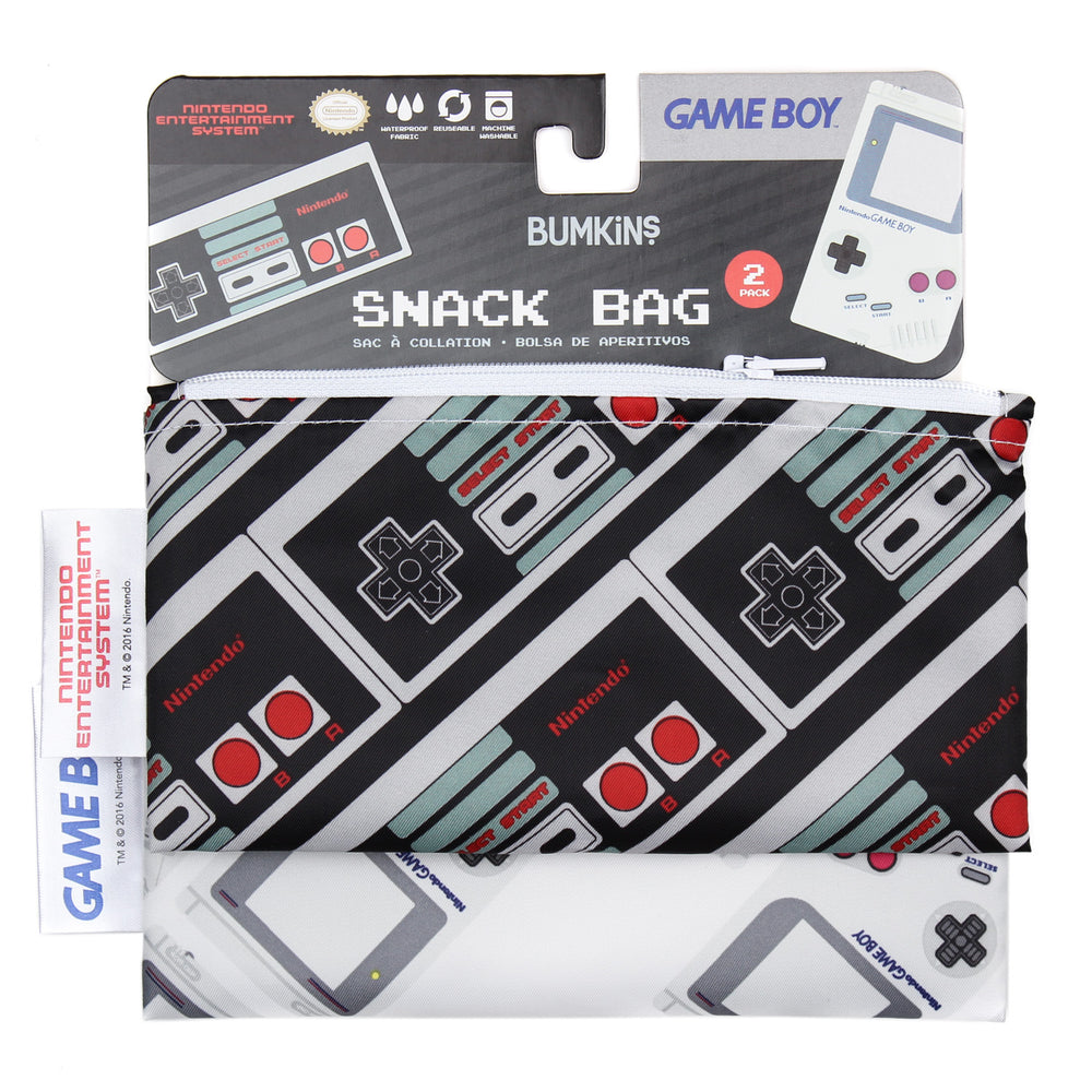 Reusable Snack Bag, Small 2-Pack: NES™ Controller & Game Boy™