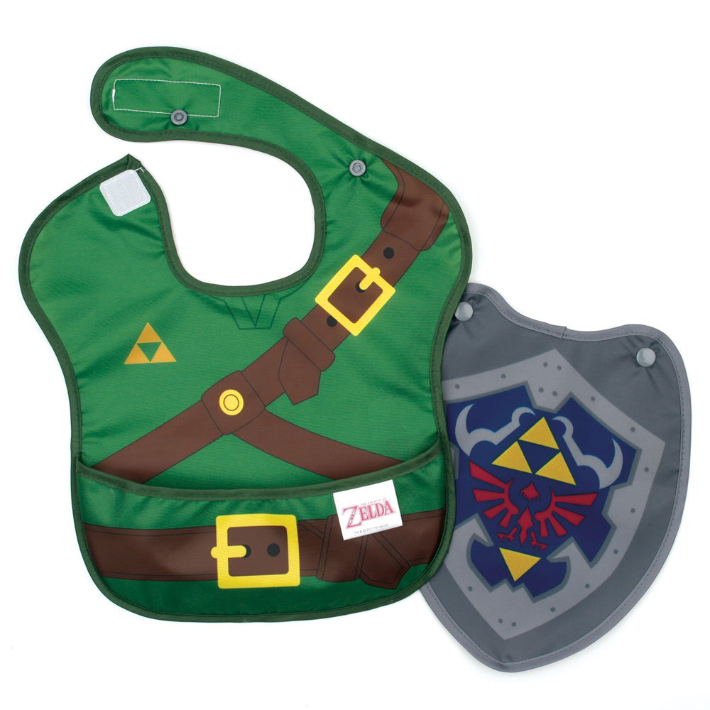 Zelda baby bib with cape