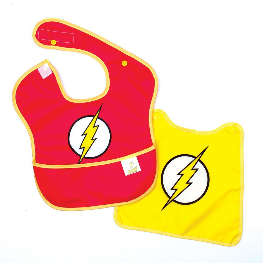 dc comics flash baby bibs