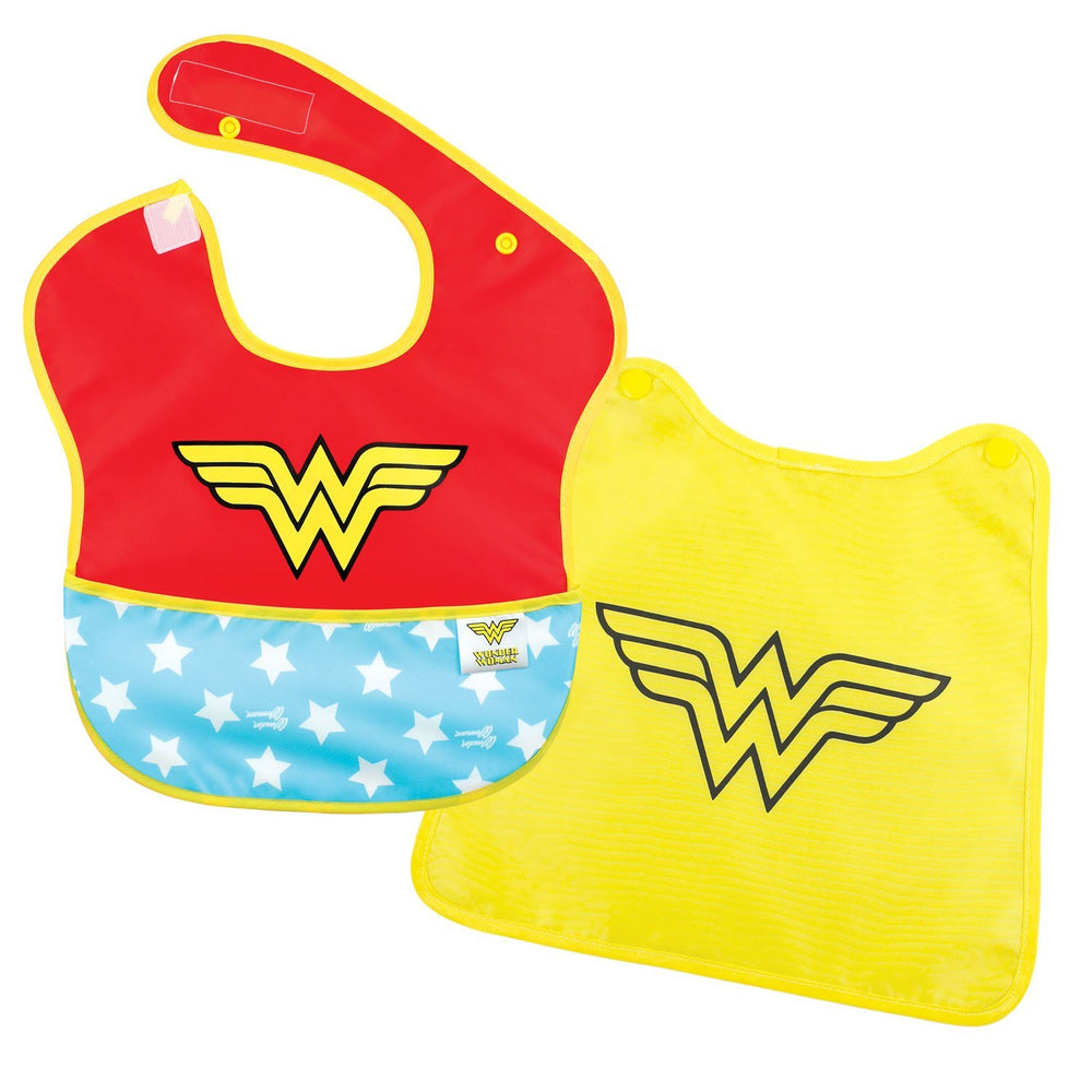 Wonder Woman baby bib with cape