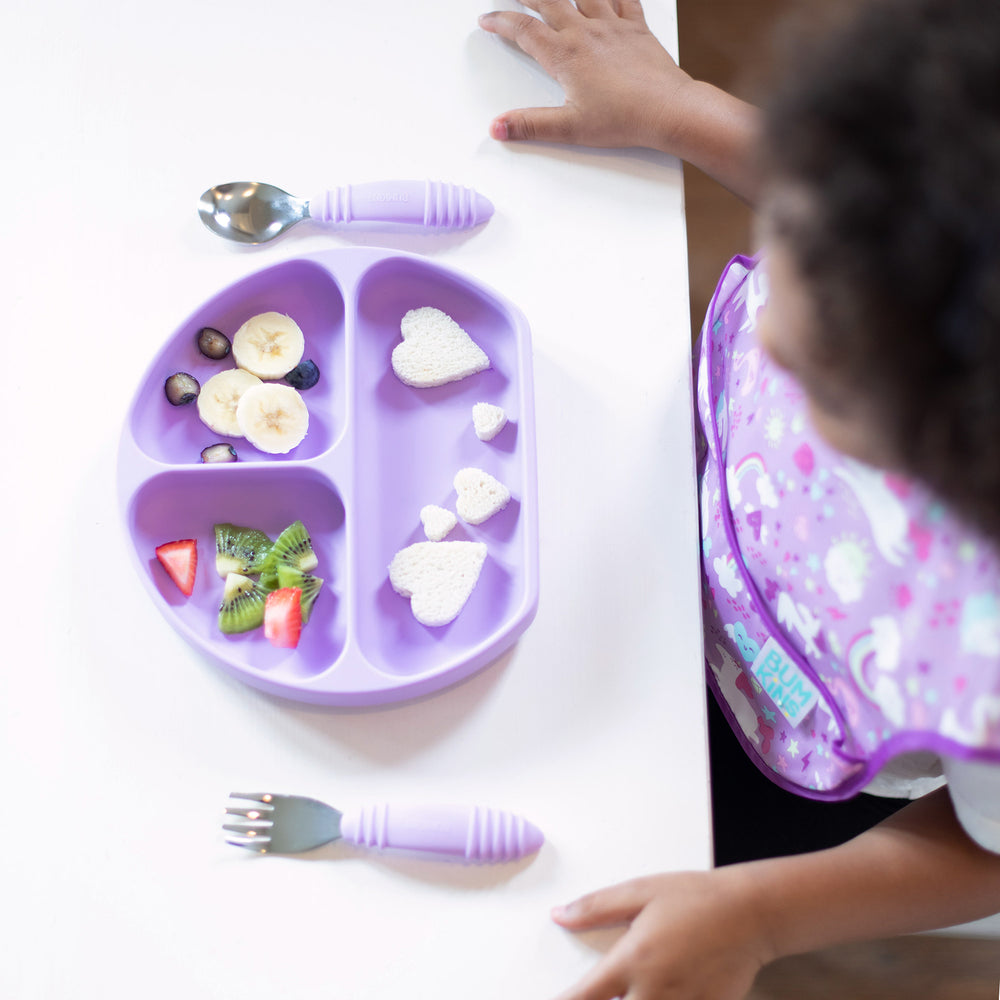 lavender toddler tableware
