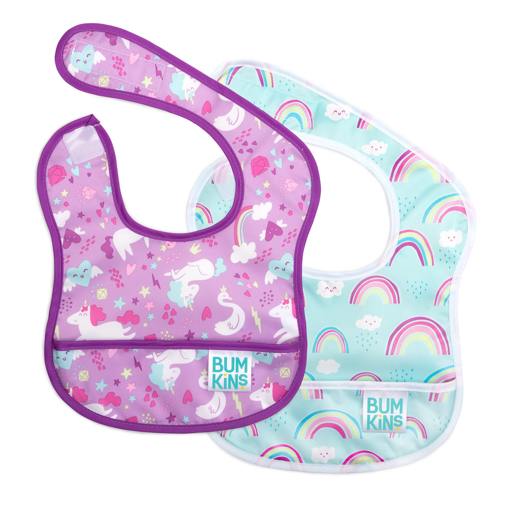 Starter Bib 2 Pack: Rainbows & Unicorns