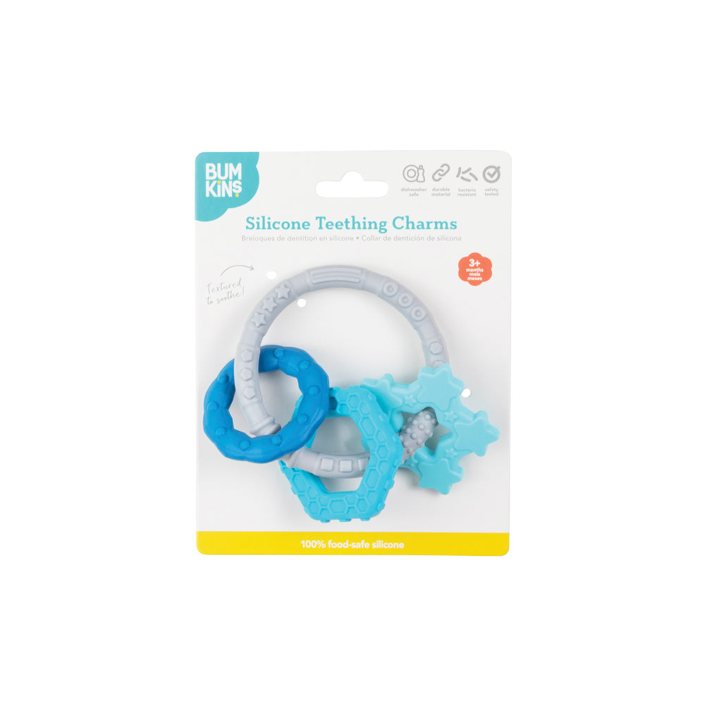 Silicone Teething Charms: Blue