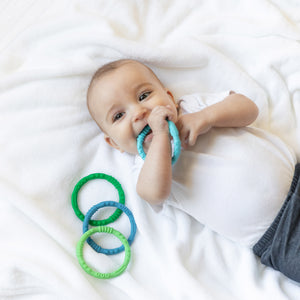 Silicone Teething Rings 4 Pack: Summer