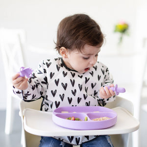 Sleeved Bib: Hearts