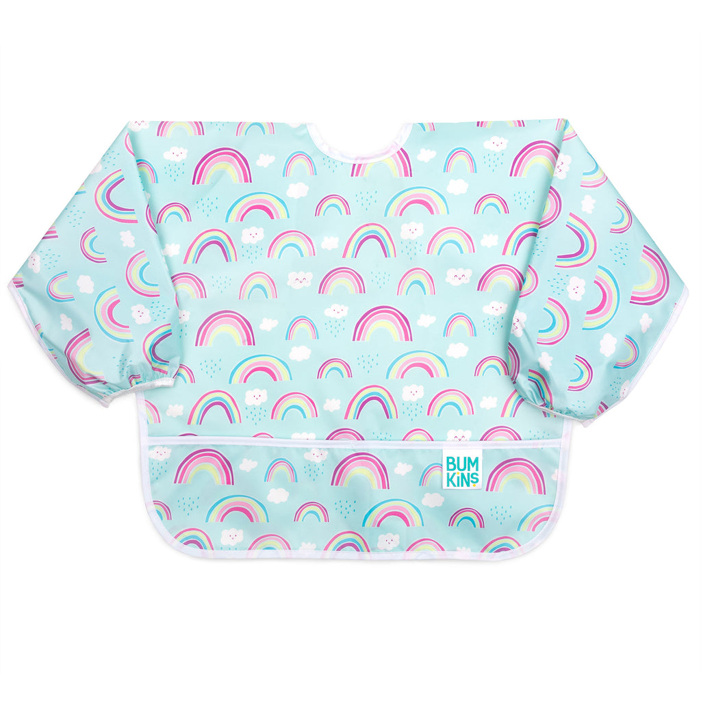 Sleeved Bib: Rainbows