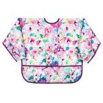 girls floral baby bib