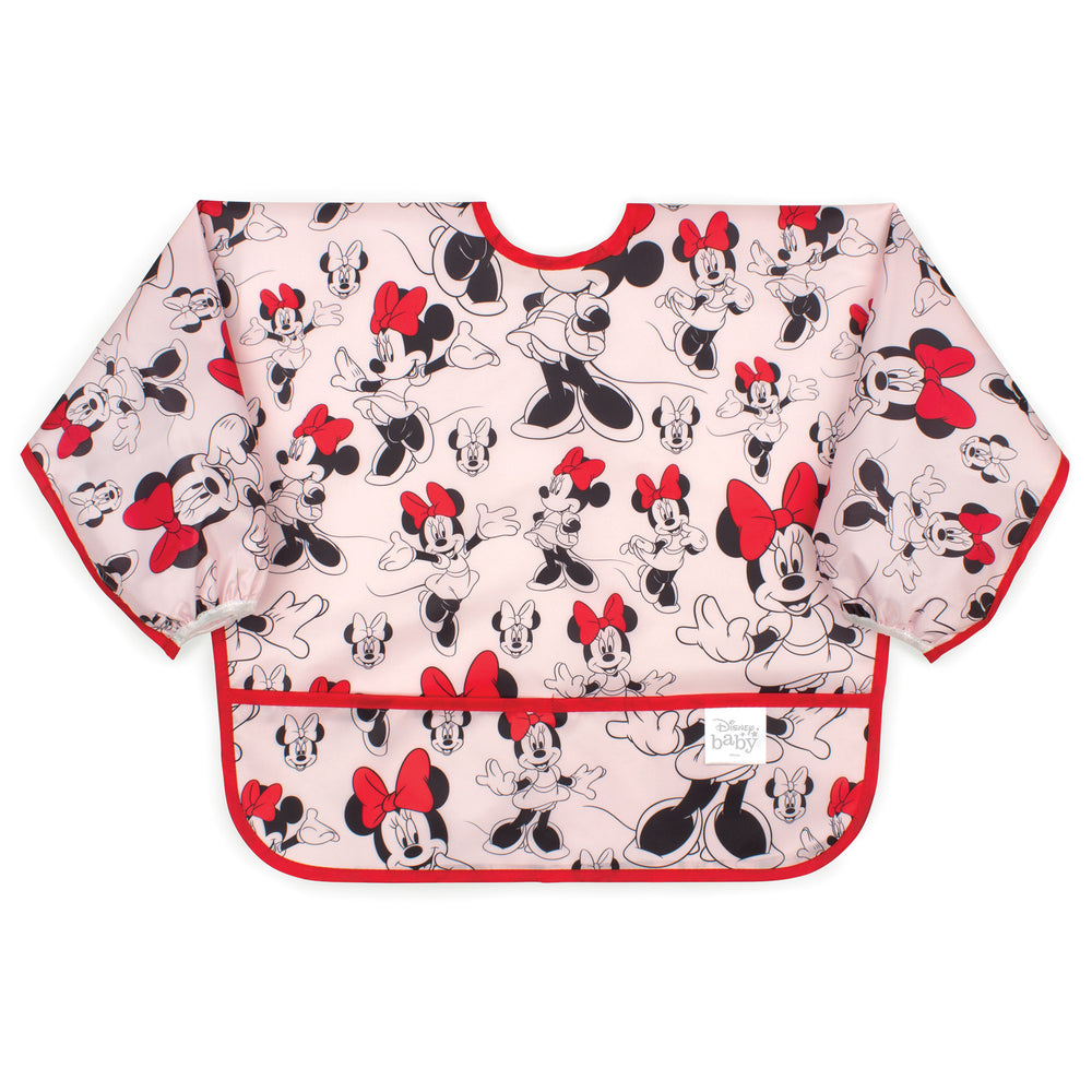 Sleeved Bib: Minnie Mouse