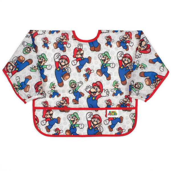 super Mario baby and toddler bib