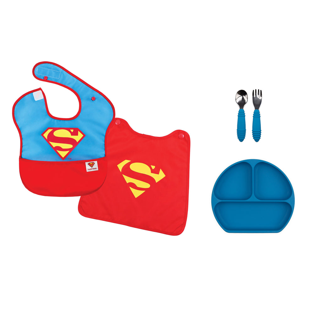 superman baby dish gift set