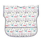 neutral gray baby toddler bib