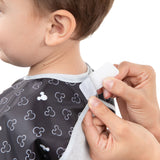 Junior Bib: Mickey Mouse Icon Black + White