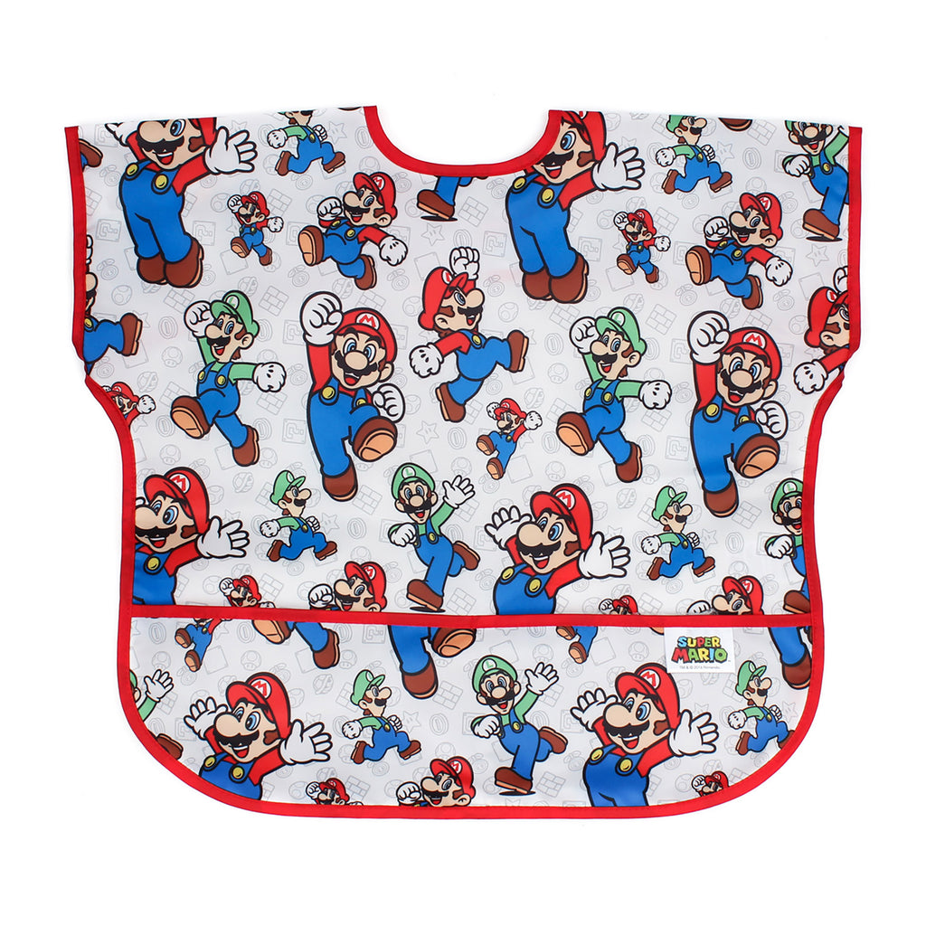super mario baby toddler bib