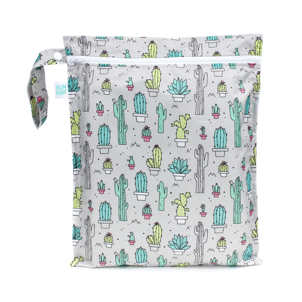 cactus design wet bag