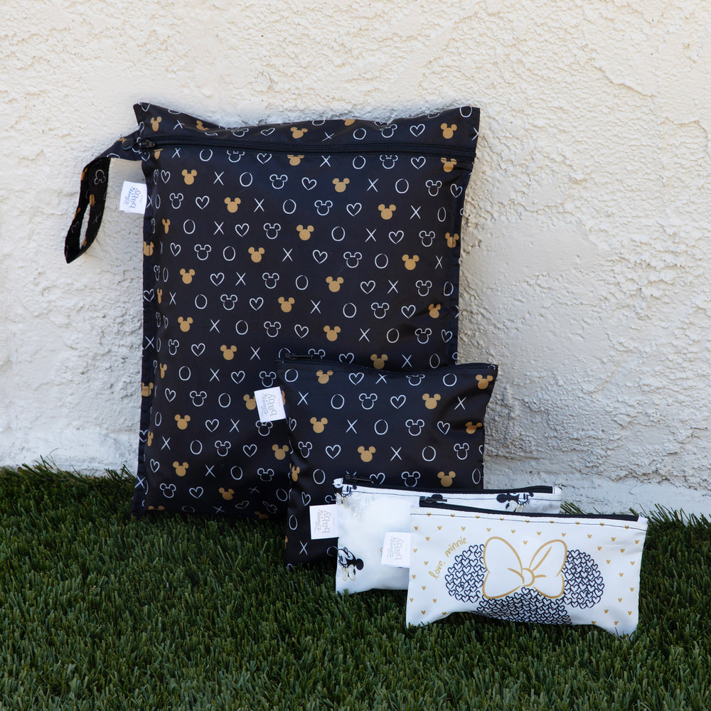 Wet Bag: Minnie Mouse Icon Black + White