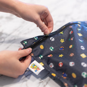 super mario wet bag zipper