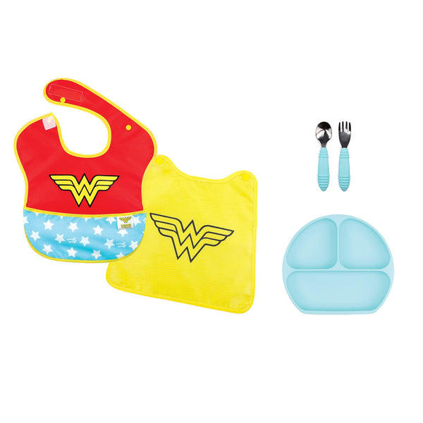 Wonder Woman baby feeding gift set