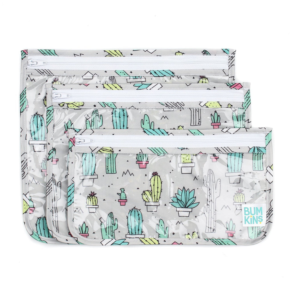 cactus clear sided quart tsa bag