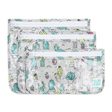 Clear Travel Bag 3 Pack: Cacti