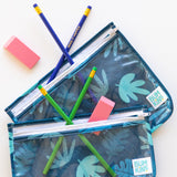 Clear Travel Bag 3-Pack: Blue Tropic