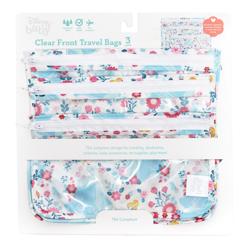 Clear Travel Bag 3-Pack: Cinderella