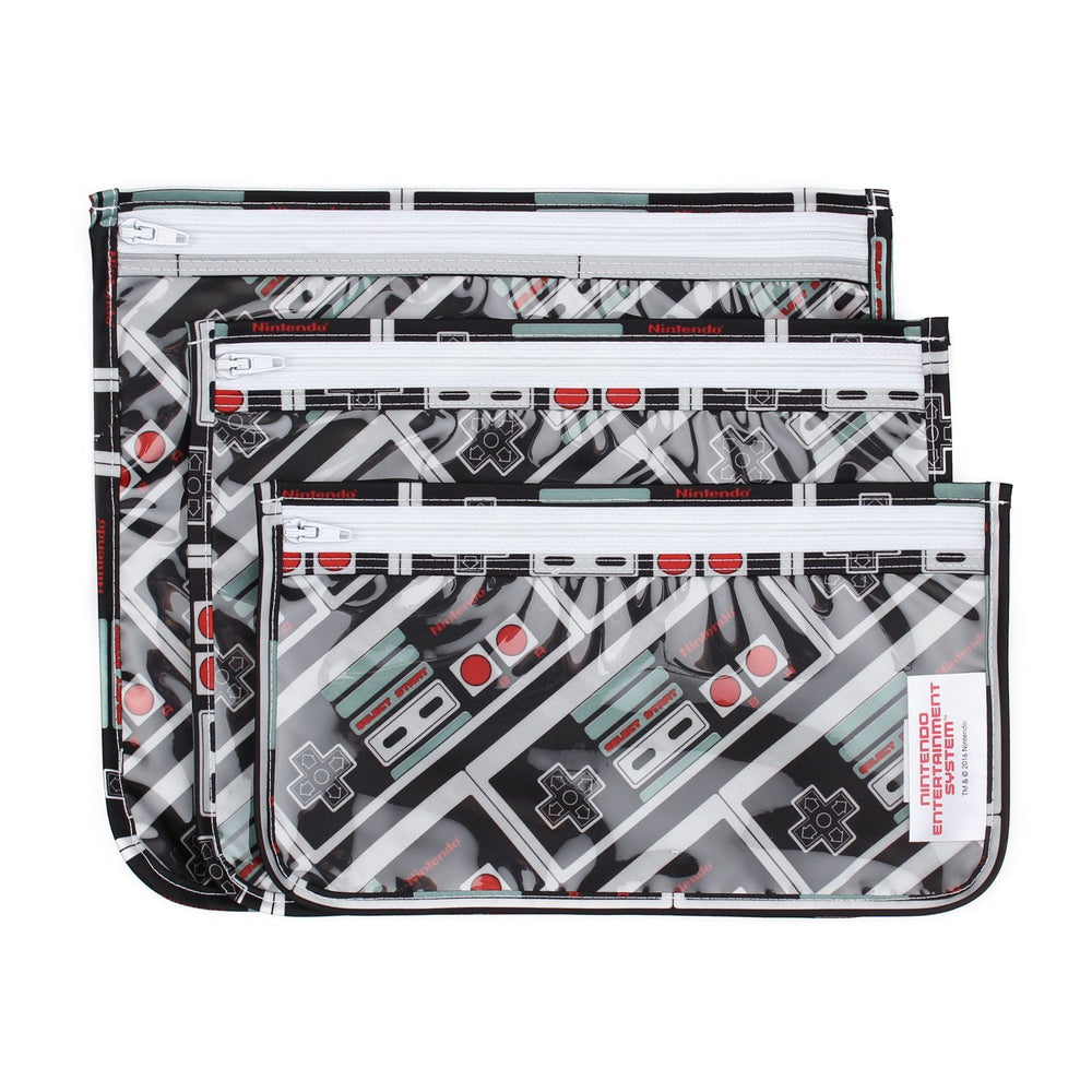 Clear Travel Bag 3-Pack: NES™ Controller