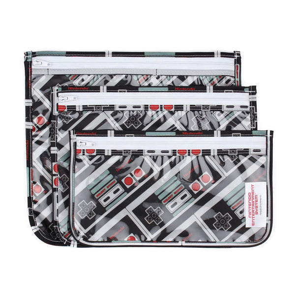 Clear Travel Bag 3 Pack: NES Controller