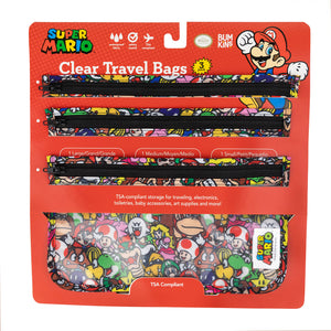 Clear Travel Bag 3-Pack: Super Mario™ Mashup