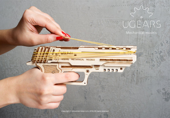 UGEARS WOLF-01 HANDGUN 62 pieces