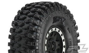 10128-13 Pro-Line Hyrax 1.9 G8 Tires Mounted on Impulse Black/Silver Pla