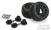 "10161-10 Street Fighter LP 2.8"" Street Tires Mounted on Raid Black 6x30 Removable Hex Wheels (2) for Rustler® 2wd & 4wd Front and Rear"