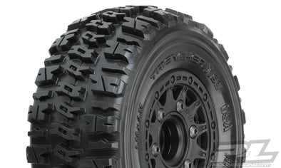 "1190-10 | Trencher X SC 2.2""/3.0"" All Terrain Tires Mounted on Raid Black 6x30 Removable Hex Wheels (2) for Slash® 2wd & Slash® 4x4 Front or Rear"