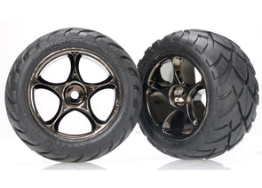 "2478A Tires & wheels, assembled (Tracer 2.2"" black chrome wheels, Anaconda® 2.2"" tires with foam inserts) (2) (Bandit rear)"