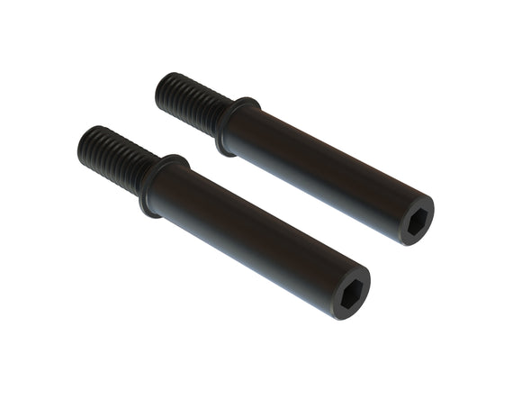 ARA340159 STEEL STEERING POST 6x40mm (Black) (2pcs)