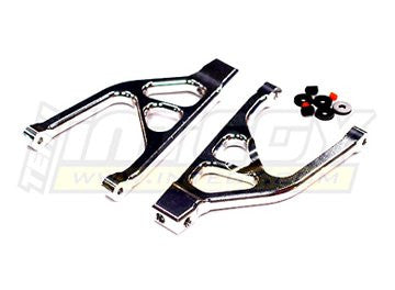 Integy RC Hobby T3422SILVER Alloy Rear Upper Arm for 1/16 Traxxas E-Revo VXL