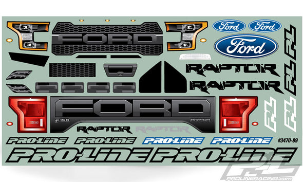 3470-00 2017 Ford F-150 Raptor Clear Body Stampede
