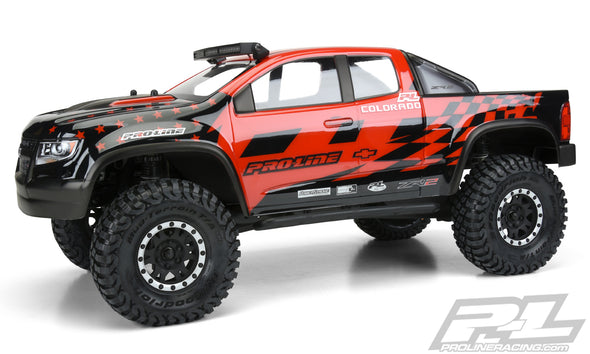 "3517-00 Chevy® Colorado™ ZR2 Clear Body for 12.3"" (313mm) Wheelbase Scale Crawlers"