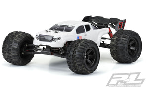 3521-15 Pre-Cut Brute Bash Armor (White) Body-ARRMA Kraton