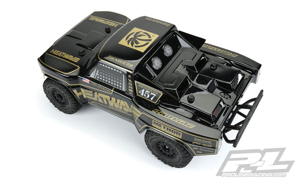 3551-18 Pre-Cut 1967 Ford® F-100 Race Truck Heatwave® Edition Tough-Color (Black) Body for Slash® 2wd, Slash® 4x4 & PRO-Fusion SC 4x4 (with extended body mounts)
