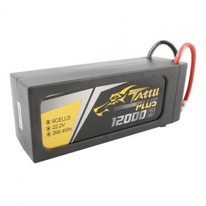 Tattu 12000mAh 22.2V 15C 6S1P Smart Lipo Battery Pack with EC5 Plug (New Version)