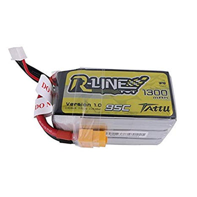 Tattu R-Line 95C 6S 1300mAh Lipo Battery Pack with XT60 Plug