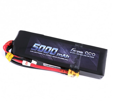 Gens ace 11.1V 50C 3S 5000mAh Lipo Battery Pack with XT60 Plug with Traxxas adapter