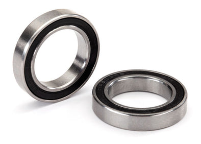 5107X Ball bearing, black rubber sealed, stainless (17x26x5) (2)
